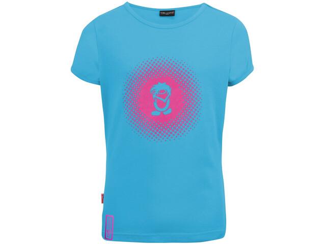 TROLLKIDS Logo T-Shirt Fille, light blue/pink